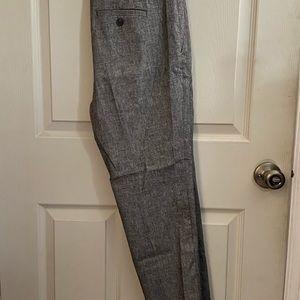 Grey LOFT petite slim pencil pants